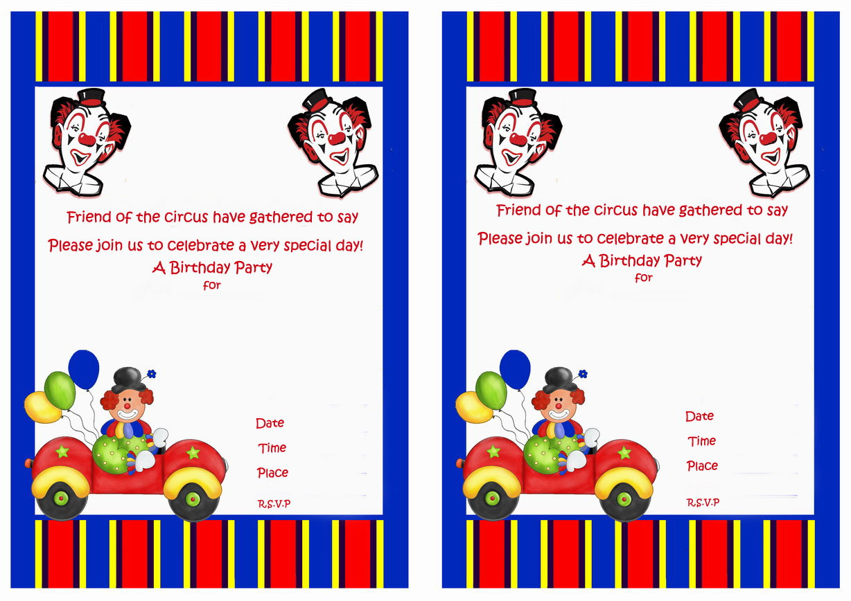 Circus Birthday Invitations – Birthday Printable