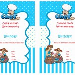 Cooking and Baking Birthday Invitations