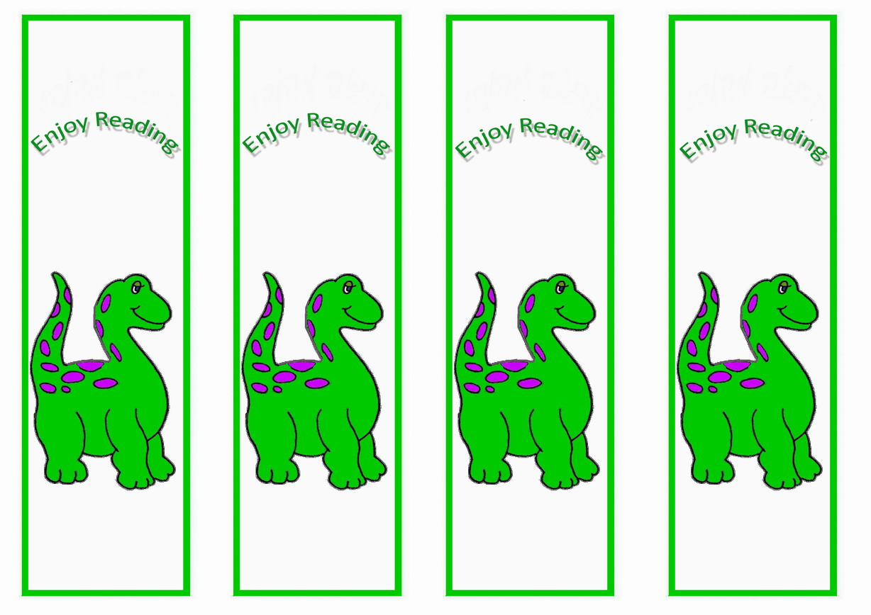 Dinosaur Bookmarks – Birthday Printable