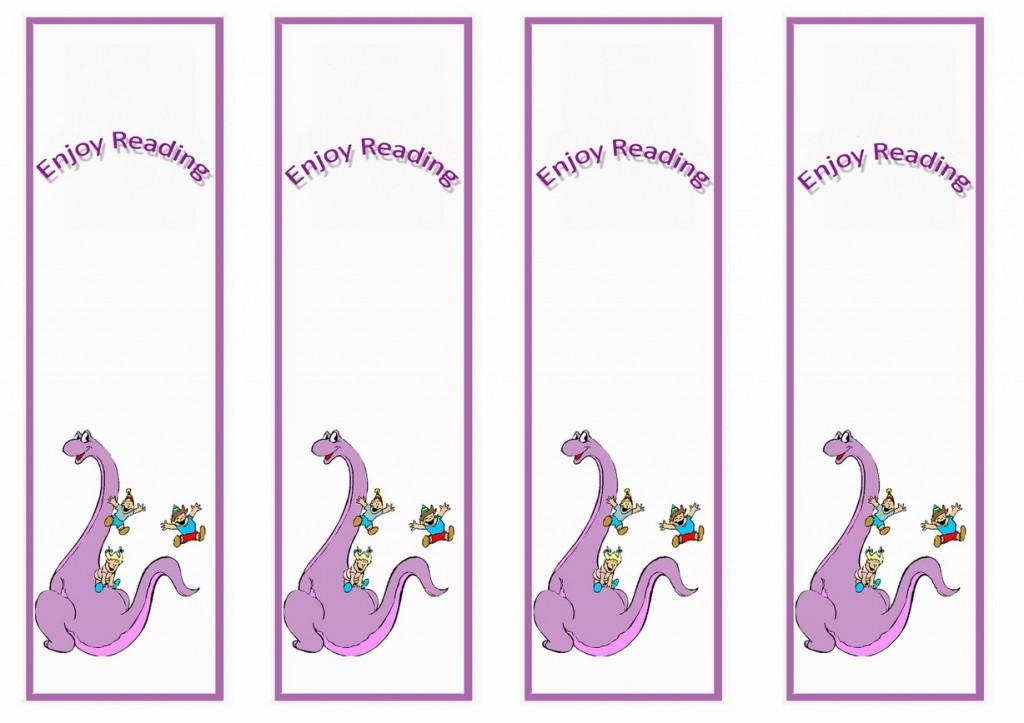 Dinosaur Bookmarks Birthday Printable