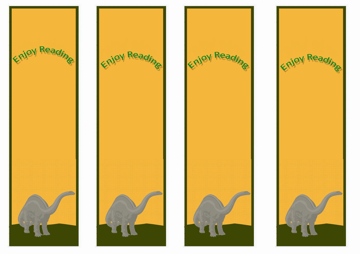 Dinosaur Bookmarks Birthday Printable