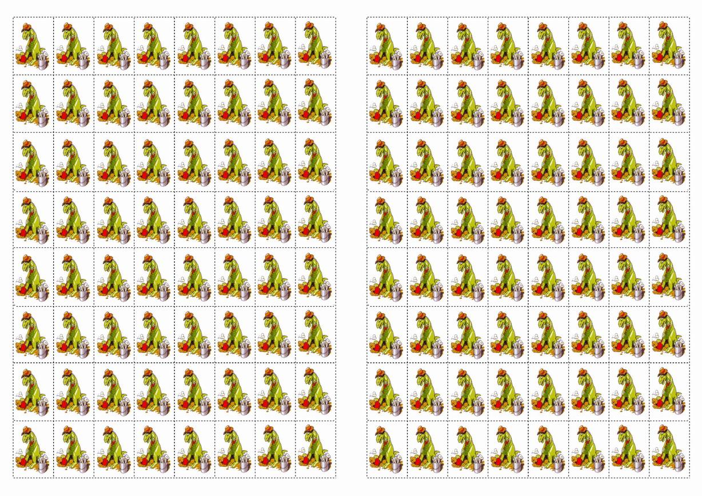 Dinosaur Stickers Birthday Printable