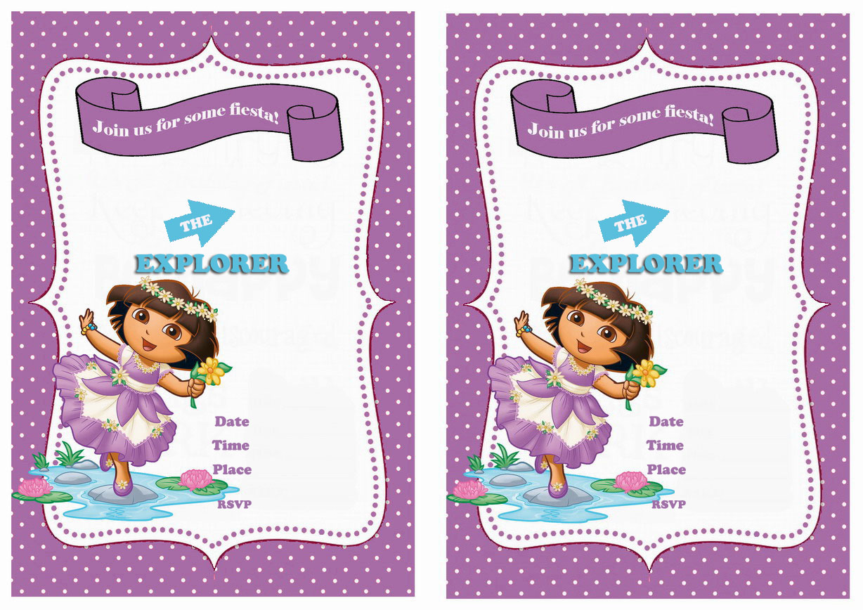 Dora birthday invitations birthday printable dora the explorer birthday printable invitations click image below to enlarge and print filmwisefo