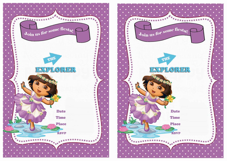 Dora birthday invitations birthday printable save filmwisefo Choice Image