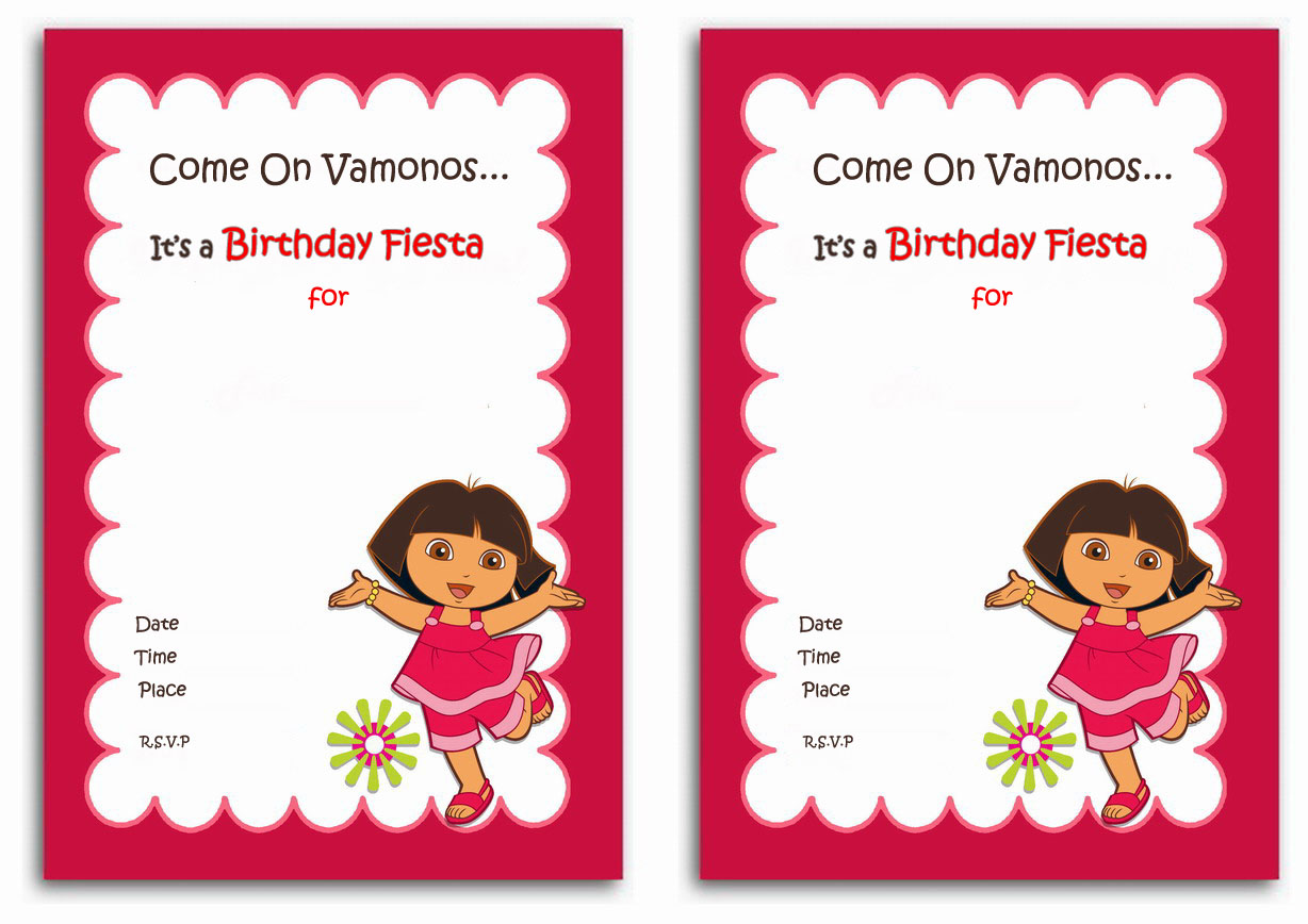 Dora Birthday Invitations Birthday Printable