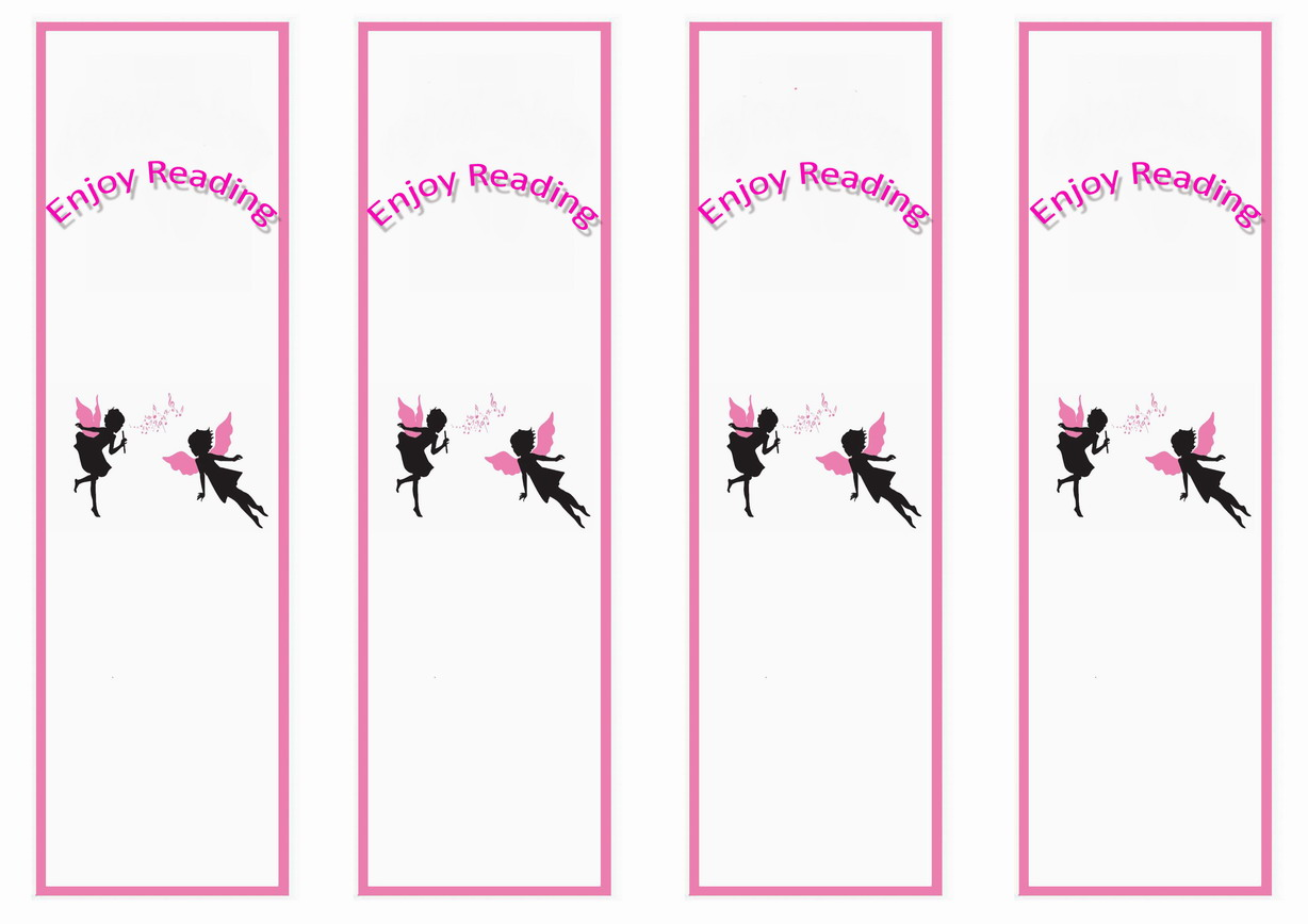 Fairy Bookmarks Birthday Printable