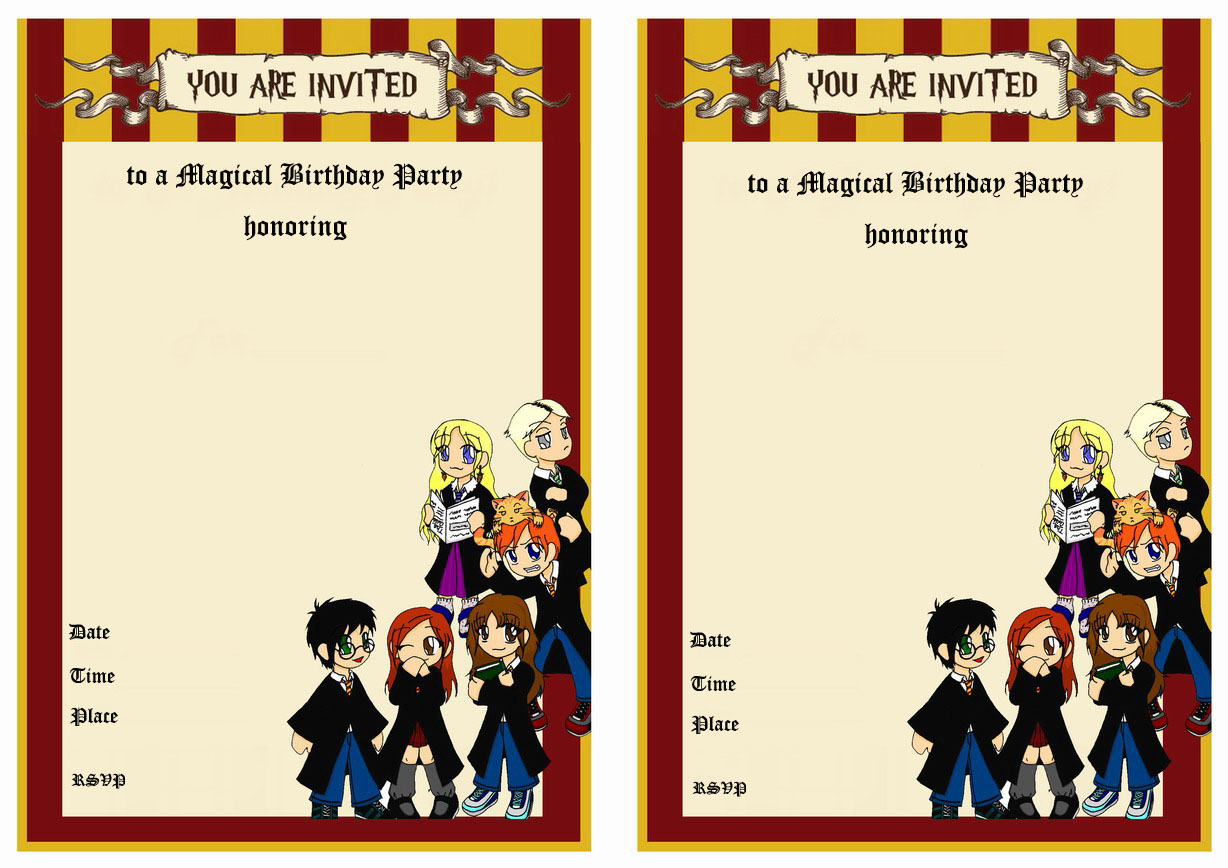 graphic relating to Harry Potter Printable Invitation Templates referred to as Harry Potter Birthday Invites Birthday Printable