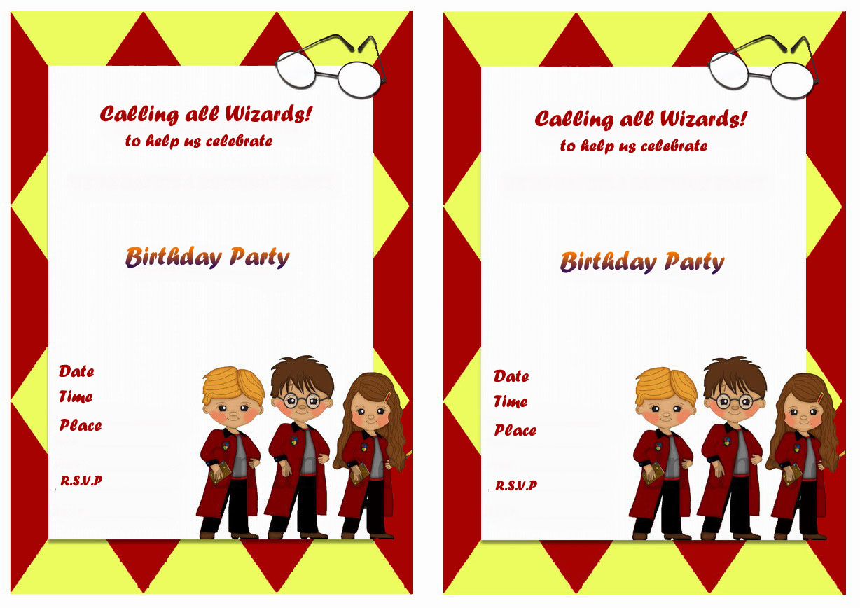 Harry Potter Birthday Invitations Gangcraftnet - Birthday invitations harry potter printable