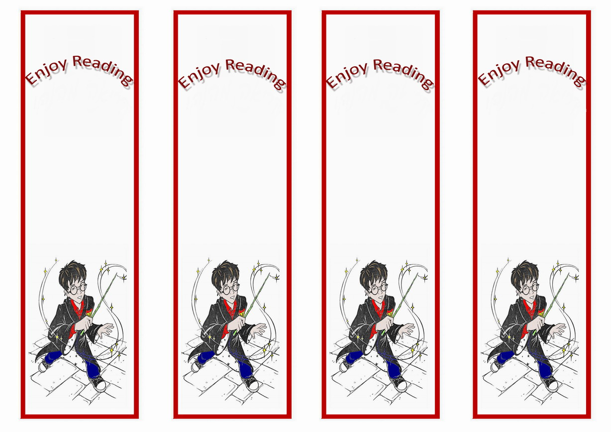 graphic about Harry Potter Printable Bookmarks referred to as Harry Potter Bookmarks Birthday Printable