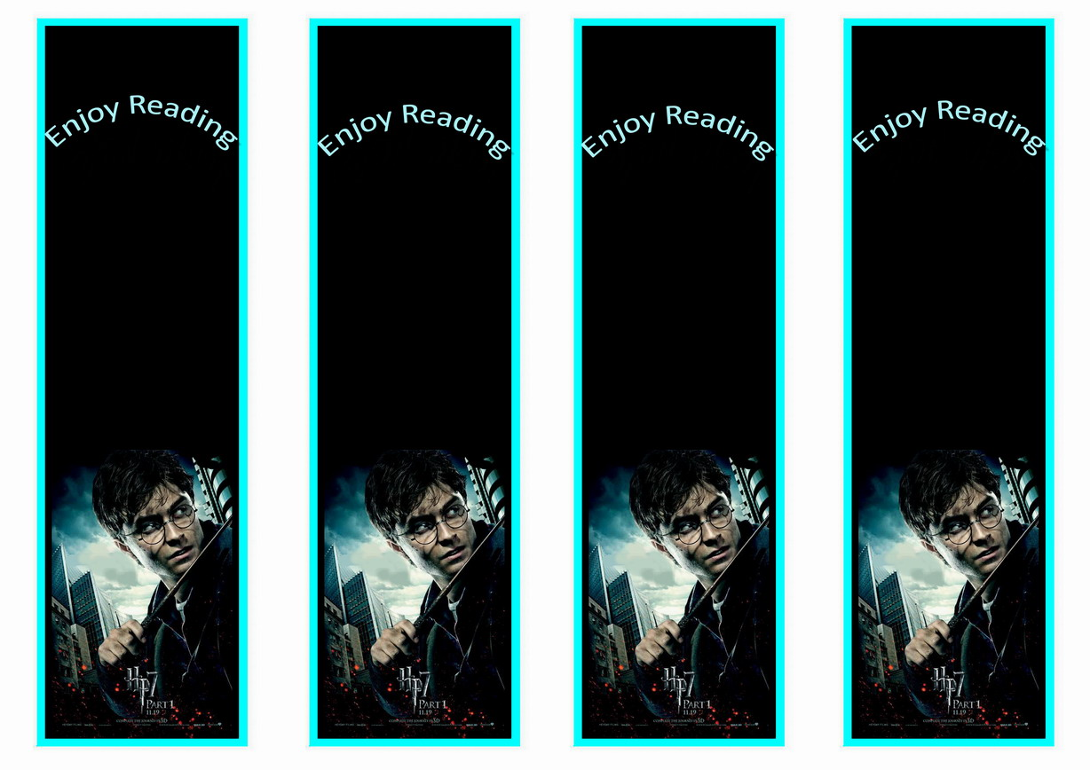 Harry Potter Bookmarks Birthday Printable