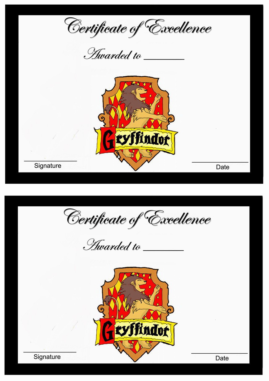 Harry Potter Awards Birthday Printable
