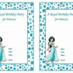 Princess Jasmine Birthday Invitations