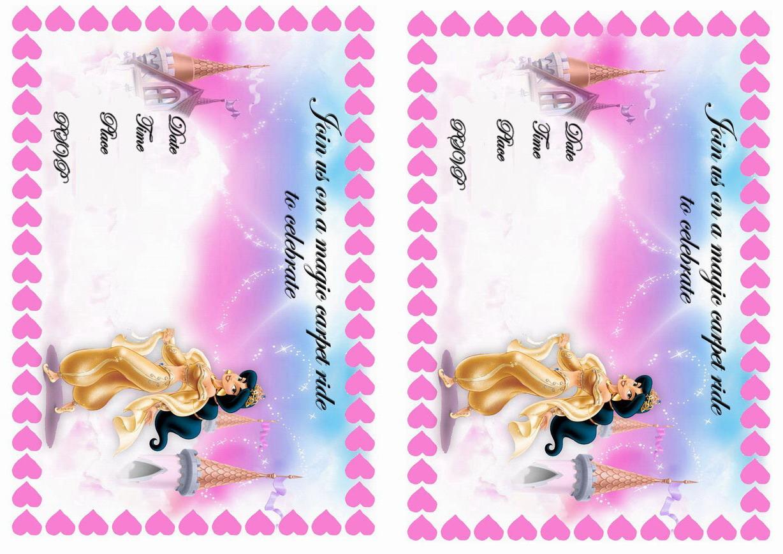 Princess Jasmine Birthday Invitations Birthday Printable – Princess Jasmine Birthday Card