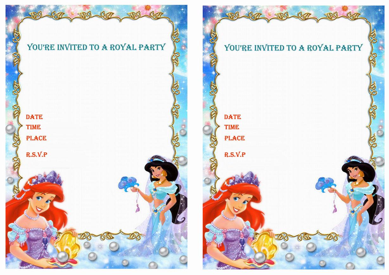 Princess jasmine birthday invitations birthday printable save stopboris Image collections