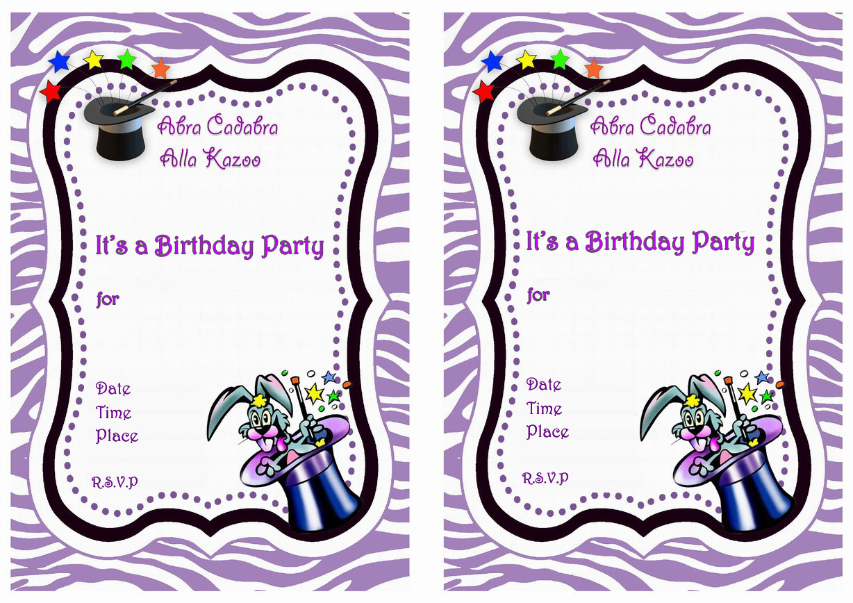 Magic Birthday Invitations Birthday