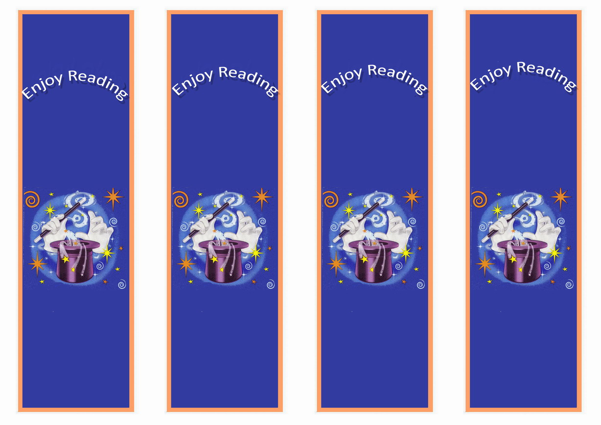 Magic Bookmarks Birthday Printable
