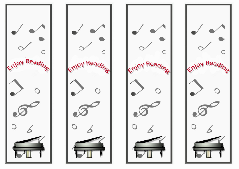 Music Bookmarks Birthday Printable