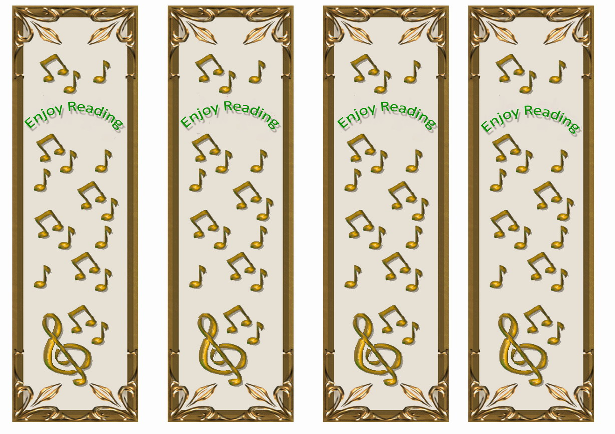Music Bookmarks – Birthday Printable