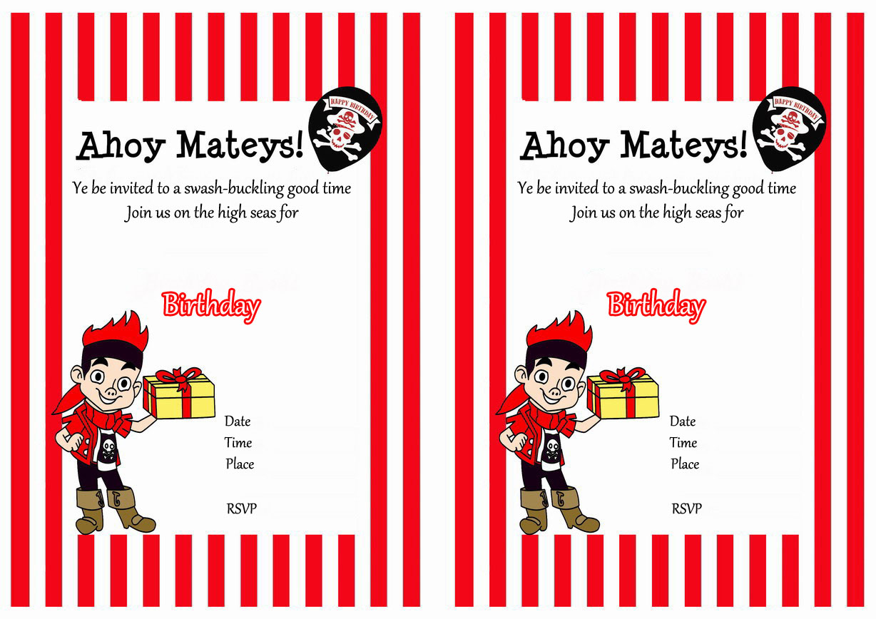 Pirate Birthday Invitations – Birthday Printable