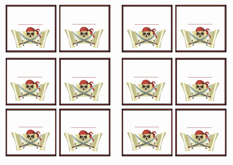 Pirate Name Tags Birthday Printable