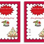 Pizza Birthday Invitations