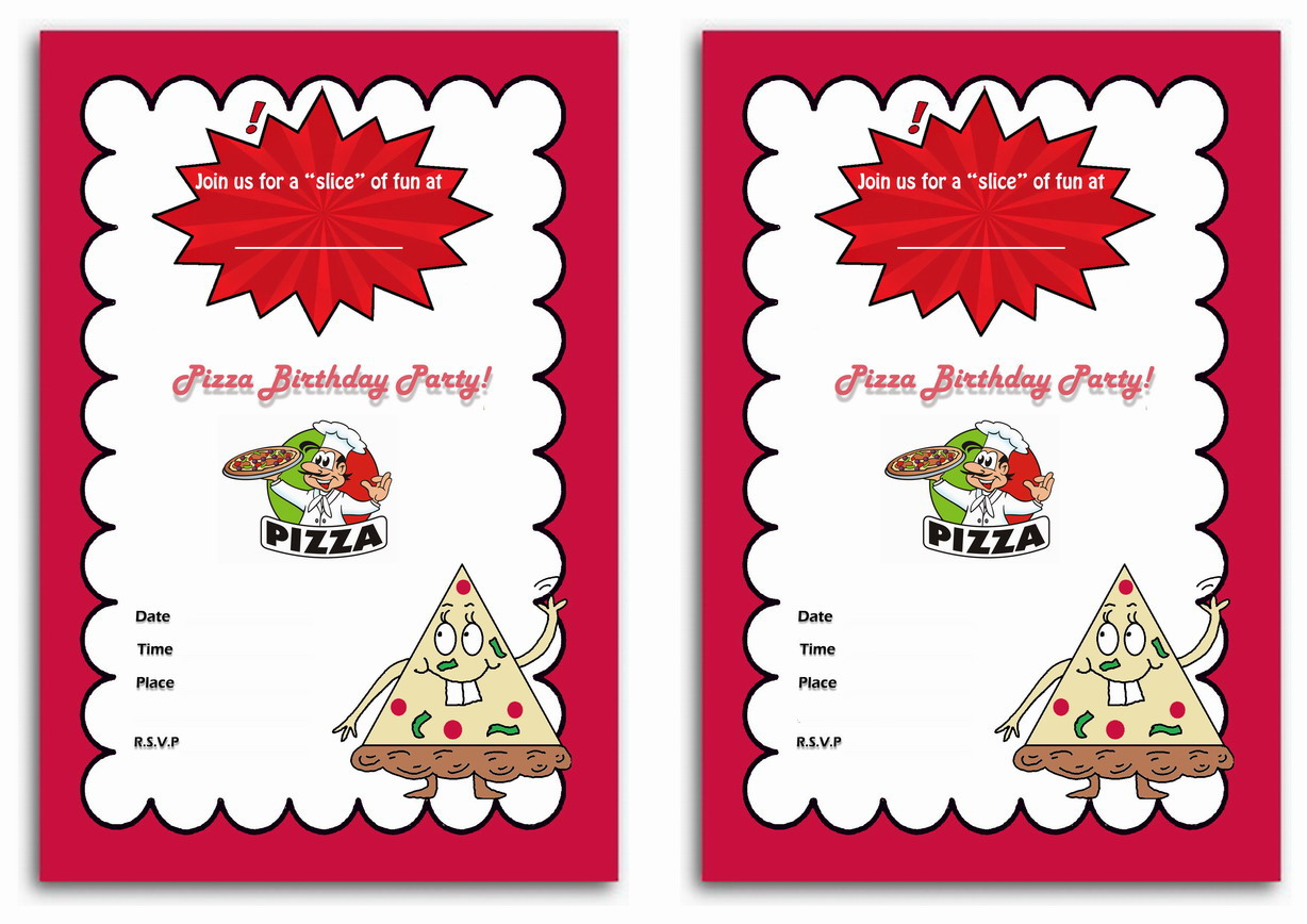 Pizza Birthday Invitations – Birthday Printable