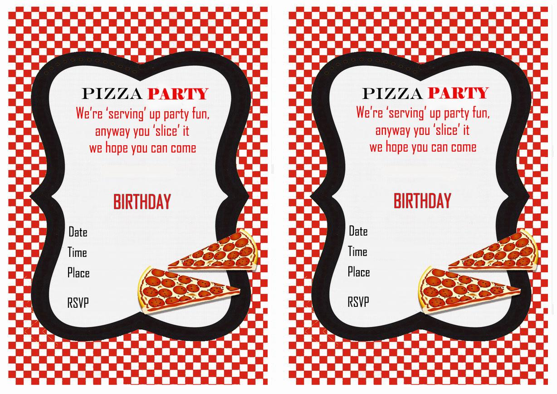 Pizza Birthday Invitations Birthday Printable