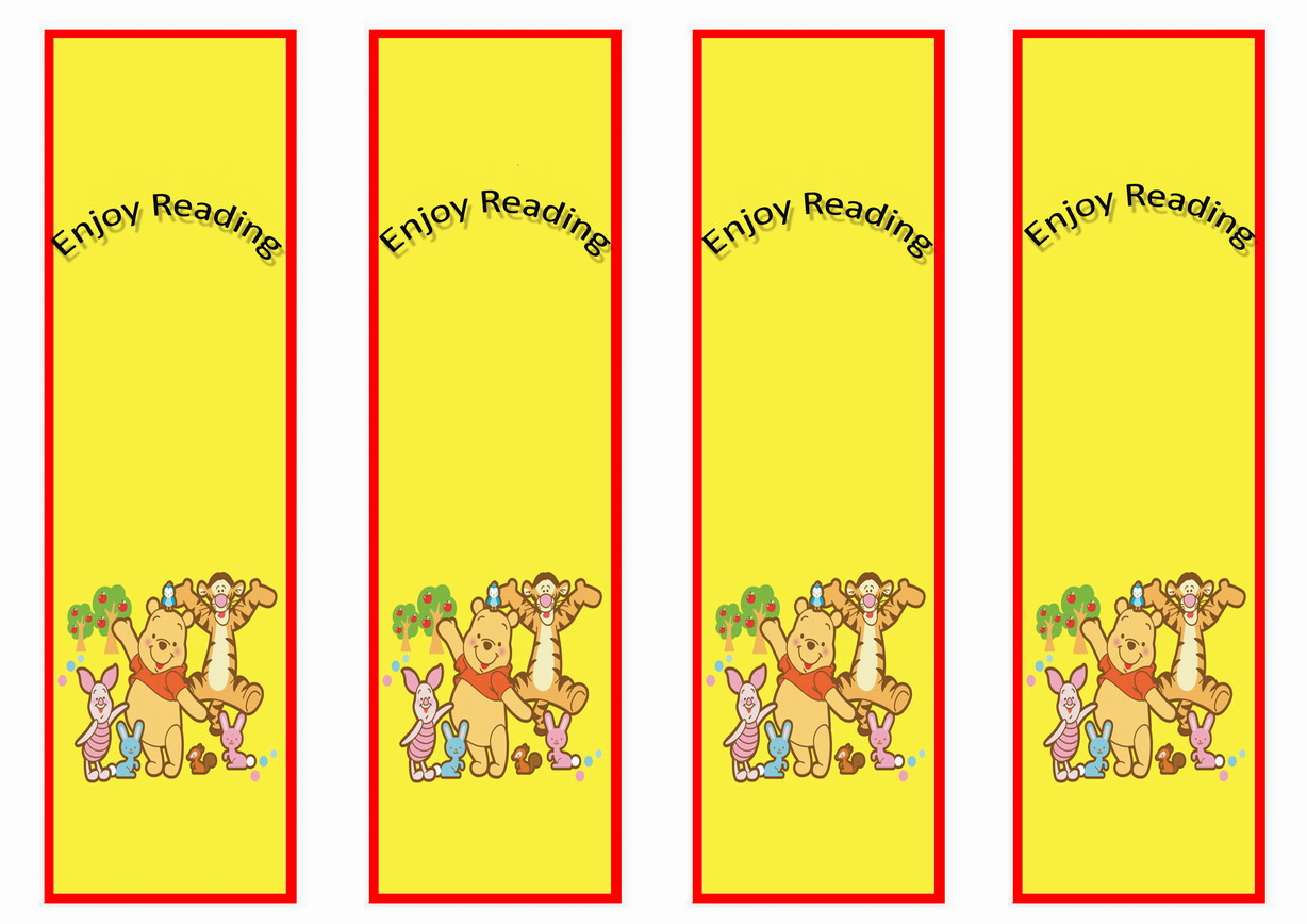 winnie the pooh bookmarks