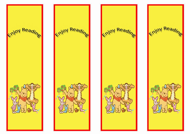 Winnie the Pooh Bookmarks Birthday