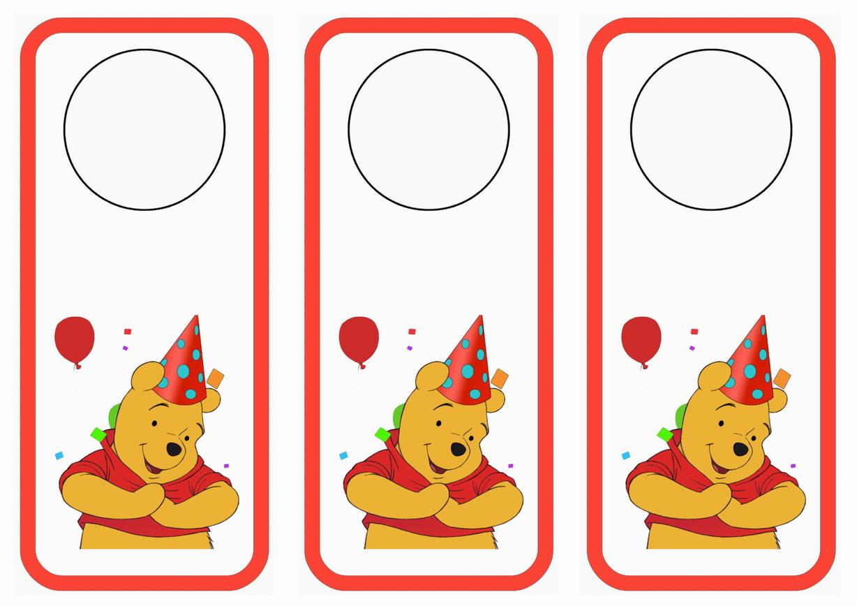 Winnie the Pooh Door Hangers – Birthday Printable