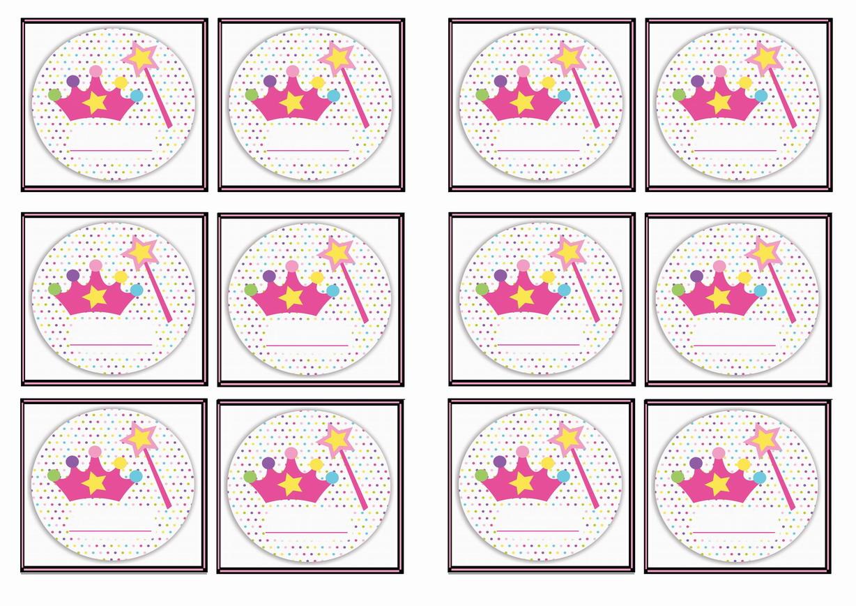 Princess Name Tags Birthday Printable