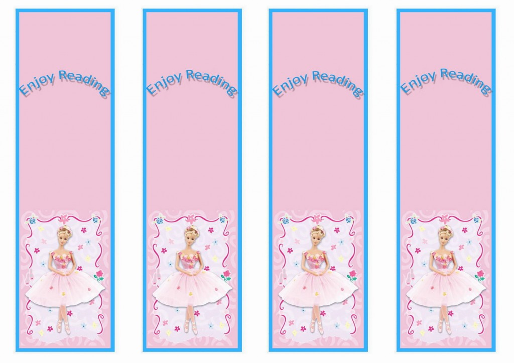 Princess Bookmarks Birthday Printable