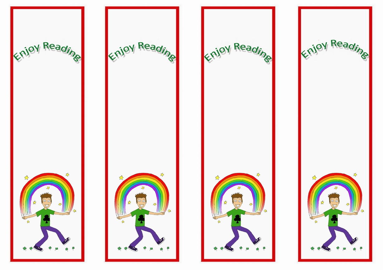 Rainbow Bookmarks – Birthday Printable
