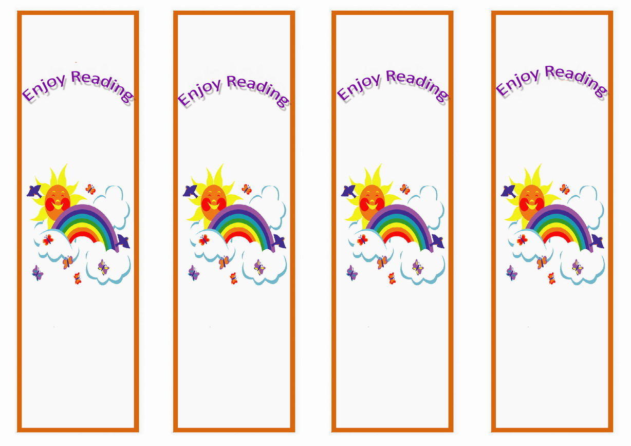 Rainbow Bookmarks Birthday Printable