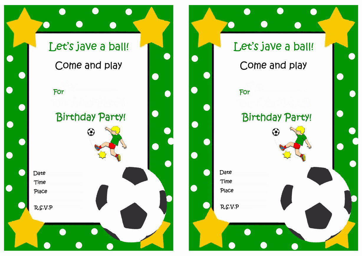 Soccer Birthday Invitations – Birthday Printable