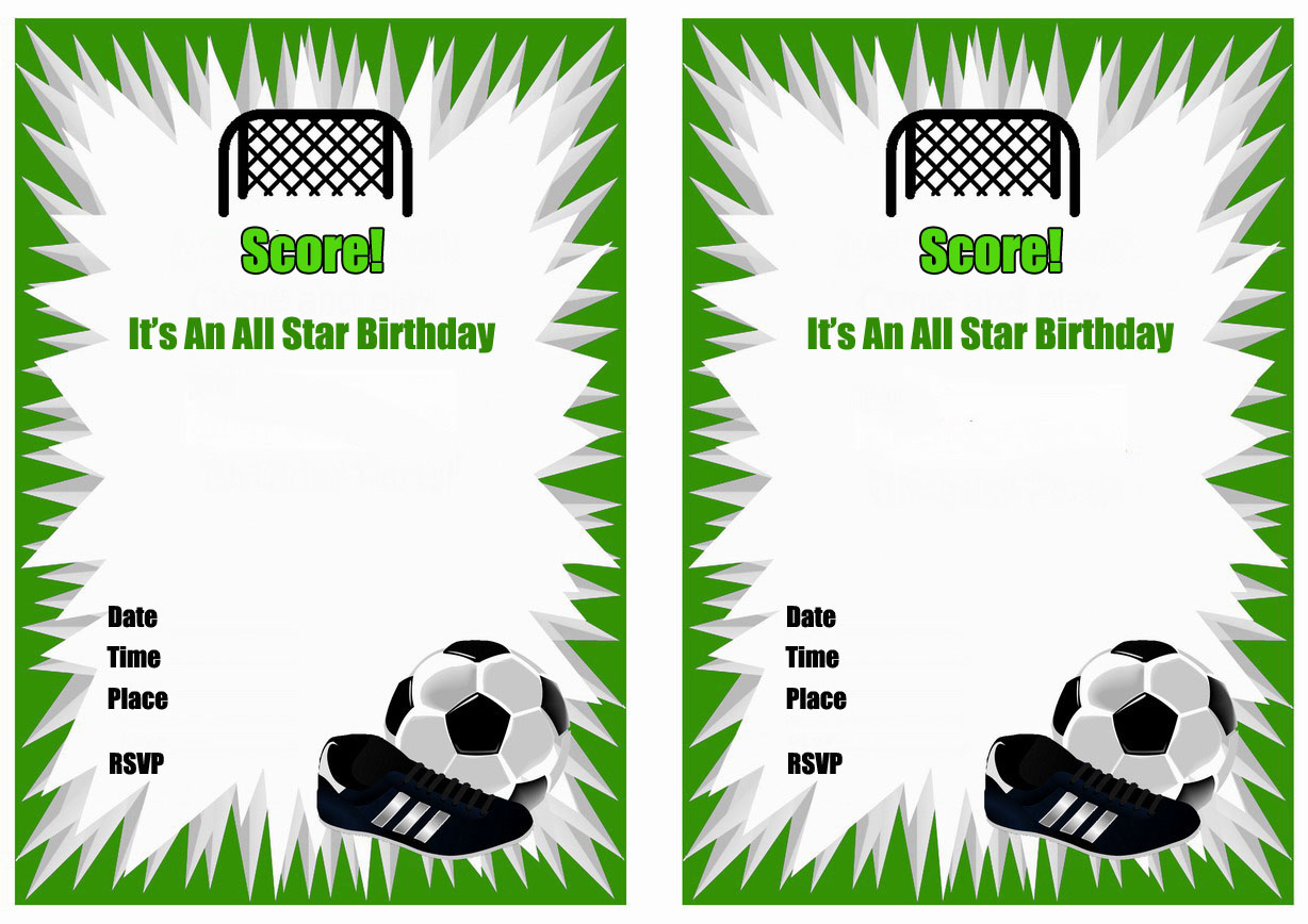 soccer birthday invitations birthday printable