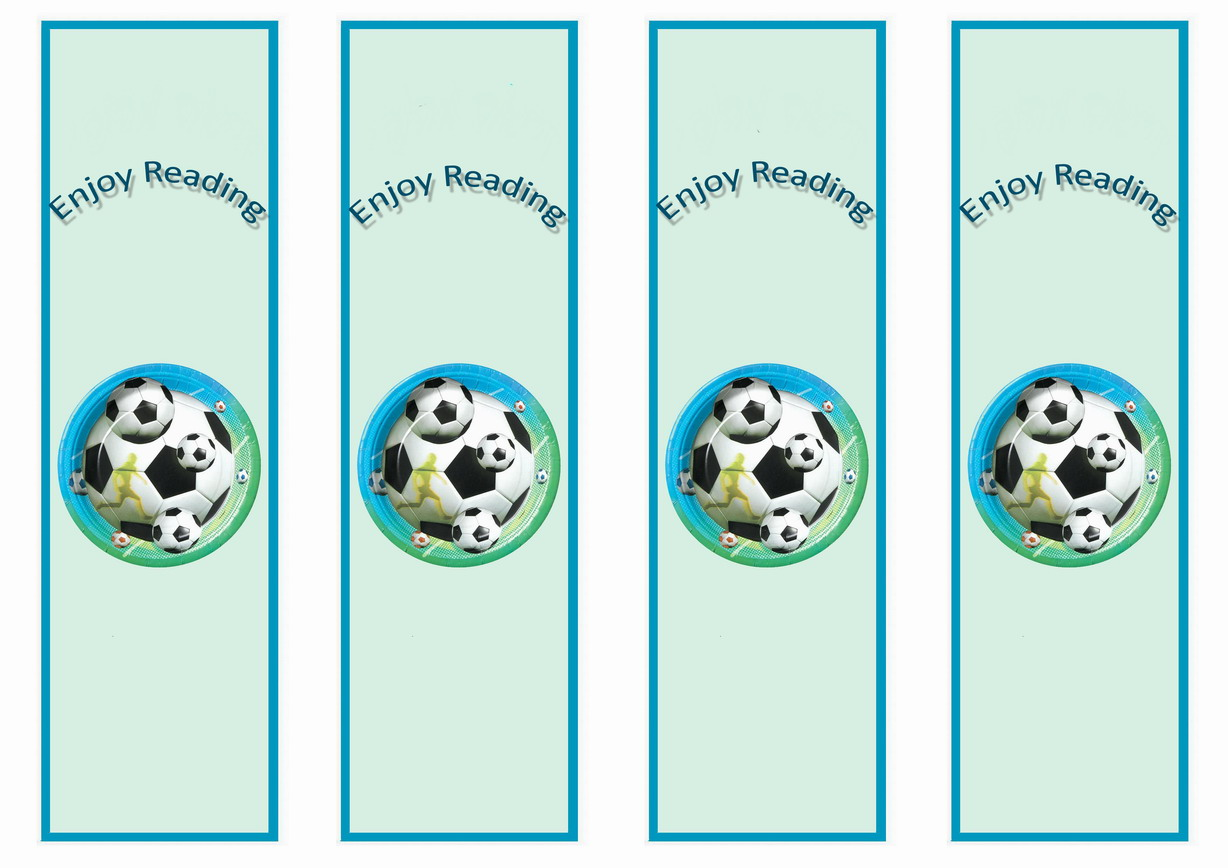 Soccer Bookmarks u2013 Birthday Printable