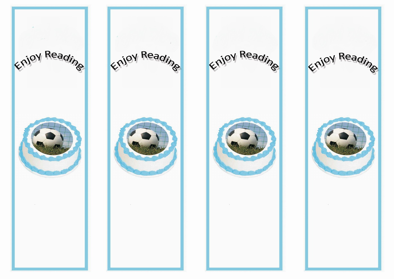 Soccer Bookmarks Birthday Printable
