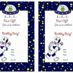 Space Birthday Invitations