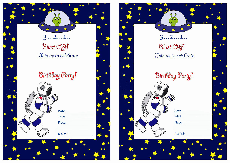 space birthday invitations birthday