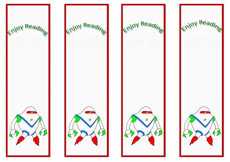 Space Bookmarks Birthday Printable