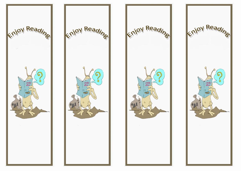 space bookmarks � birthday printable