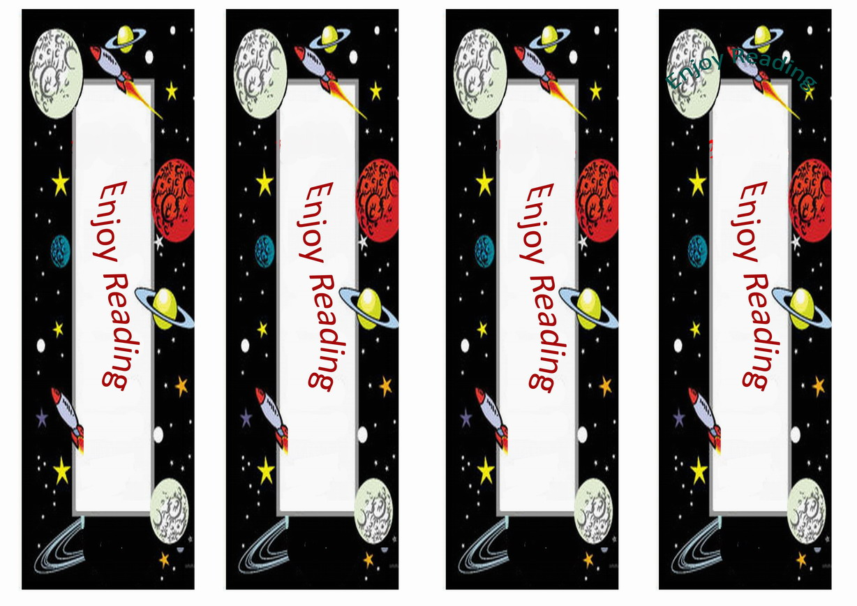Space Bookmarks Birthday Printable