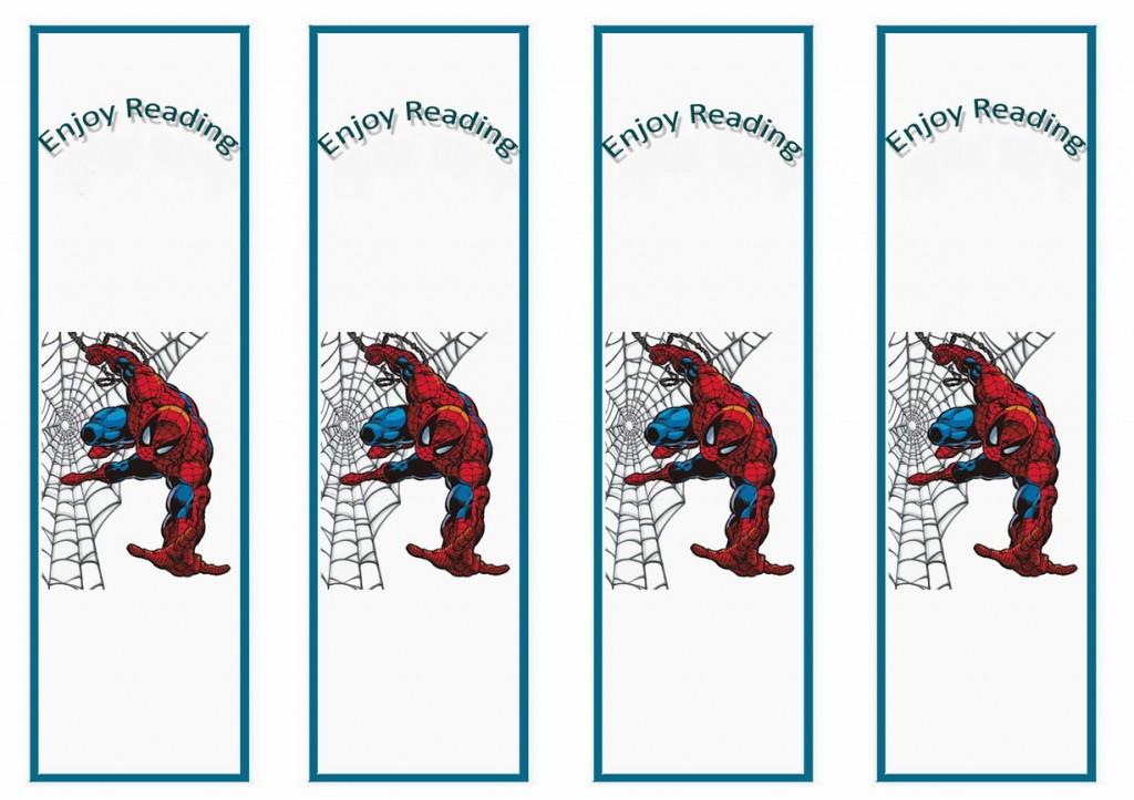 Spiderman Bookmarks Birthday Printable