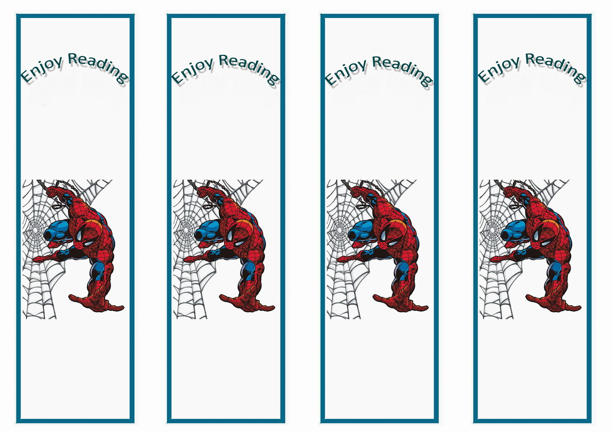 Spiderman Bookmarks – Birthday Printable