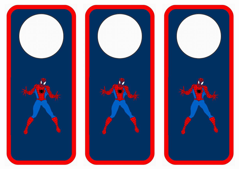 Spiderman Door Hangers u2013 Birthday Printable