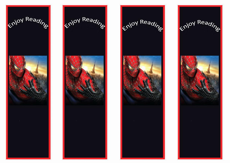 spiderman bookmarks � birthday printable