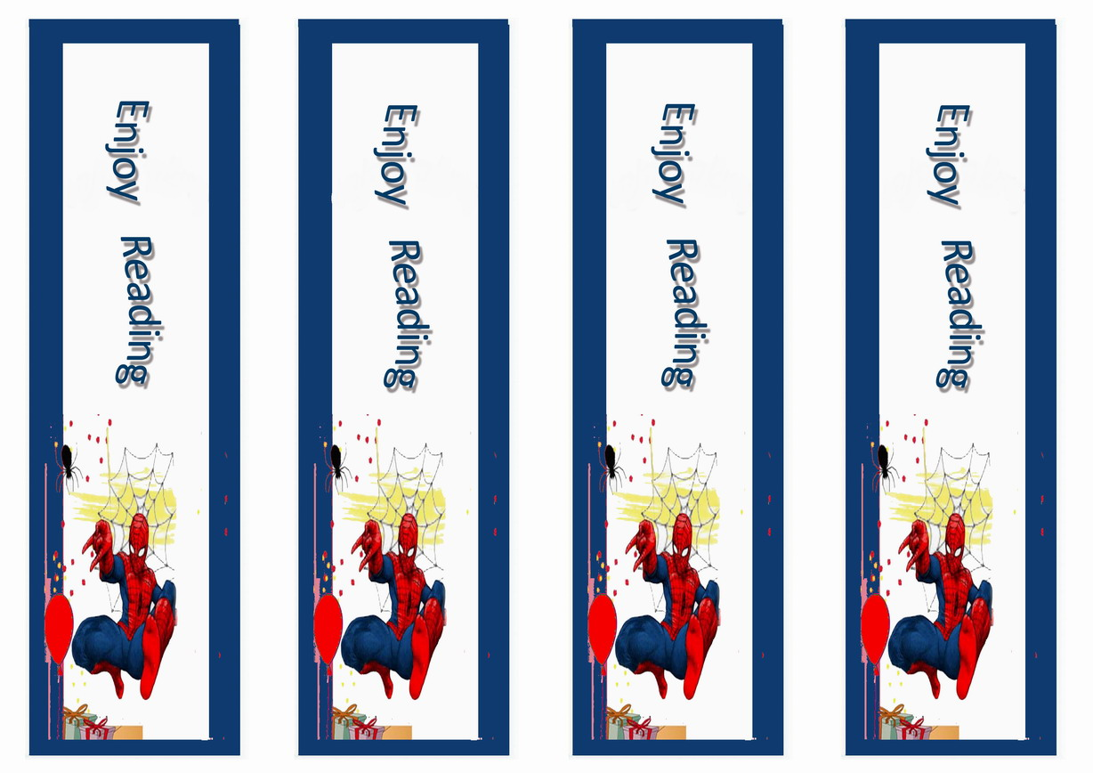 Spiderman Bookmarks Birthday