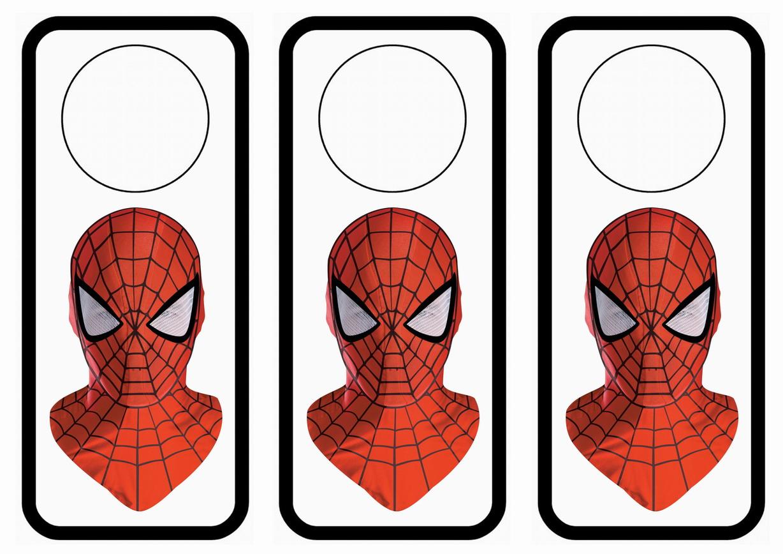 Spiderman Door Hangers Birthday Printable