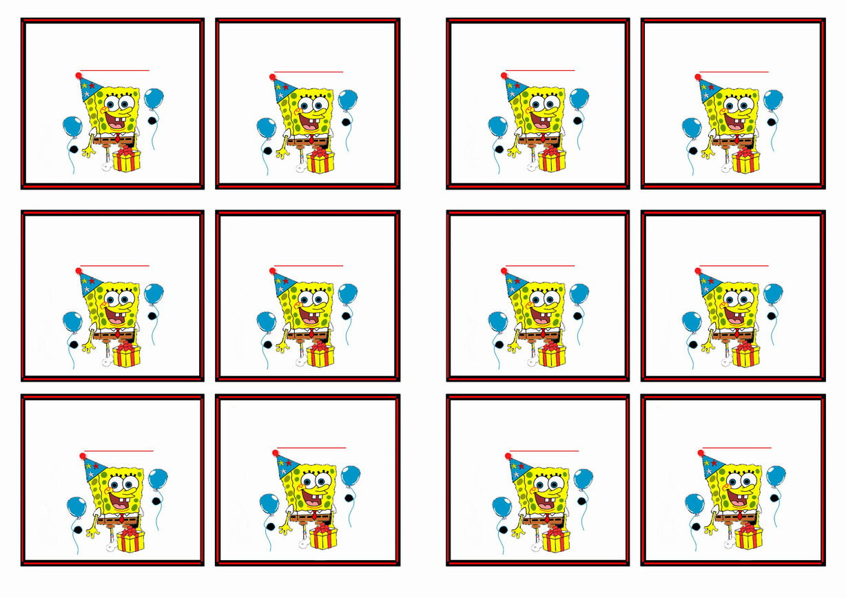 Spongebob Birthday Printable
